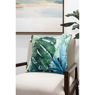 Abstract Greenery Modern Pillow (Accent - 18 x 18 - Polyester)