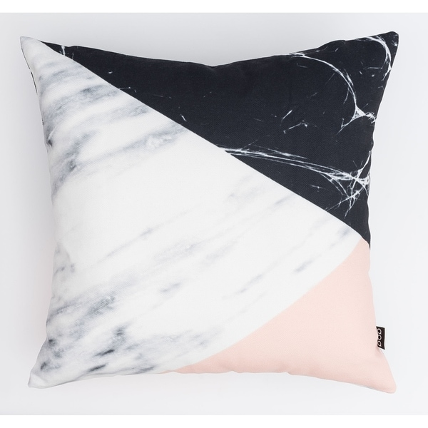 Three-Toned Marble Modern Pillow