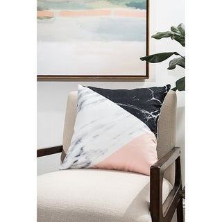 Three-Toned Marble Modern Pillow (Accent - 18 x 18 - Polyester)