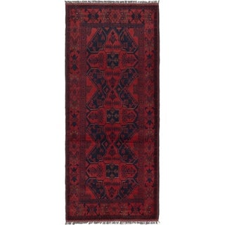 eCarpetGallery Hand-knotted Finest Khal Mohammadi Red Wool Rug - 2'9 x 6'5