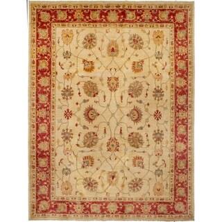 eCarpetGallery  Hand-knotted Chobi Finest Cream Wool Rug - 8'10 x 11'8