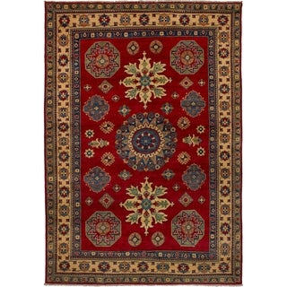 eCarpetGallery  Hand-knotted Finest Gazni Red Wool Rug - 6'2 x 8'11