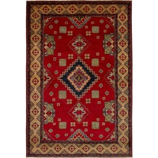 eCarpetGallery  Hand-knotted Finest Gazni Red Wool Rug - 6'6 x 9'8