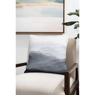 Mountains Modern Pillow (Accent - 18 x 18 - Polyester)