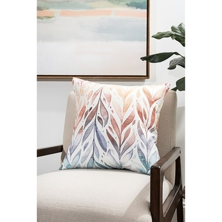 Bright Leaves Modern Pillow (Accent - 18 x 18 - Polyester)