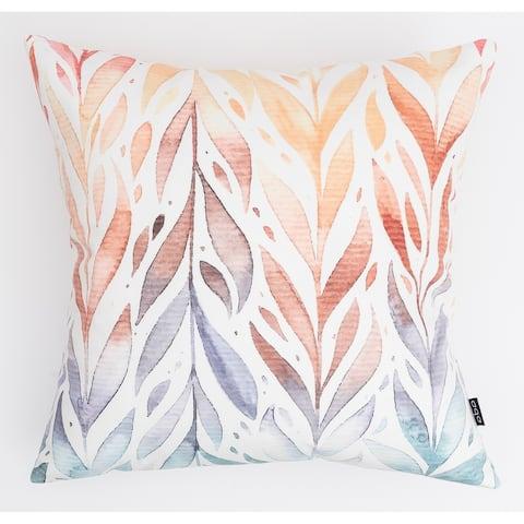 Bright Leaves Modern Pillow