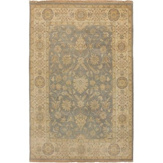 eCarpetGallery  Hand-knotted Royal Ushak Dark Grey Wool Rug - 5'3 x 7'11