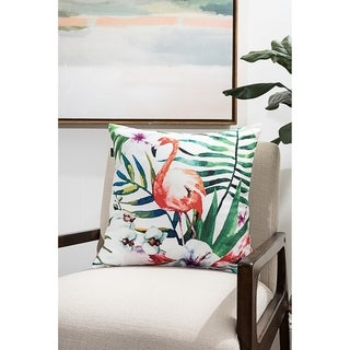 Flamingo Modern Pillow (Accent - 18 x 18 - Polyester)