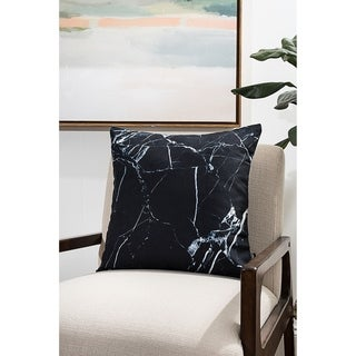 Black Marble Modern Pillow (Accent - 16 x 16 - Polyester)