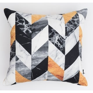 Marble Chevron Modern Pillow