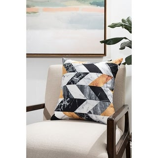Marble Chevron Modern Pillow (Accent - 18 x 18 - Polyester)
