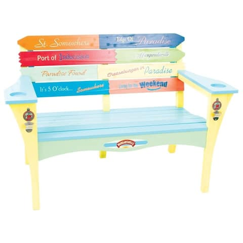 Margaritaville Southern Most Point Wood Garden Bench