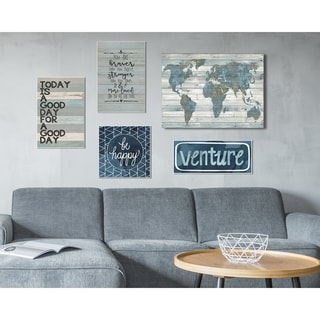 The Stupell Home Decor Collection Venture Happy Traveling 5 Piece Gallery Wall Art Set