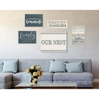 The Stupell Home Decor Collection Rustic Family Abode 5 Piece Gallery Wall Art Set