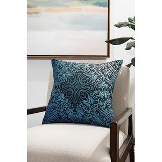 Green Geometric Modern Pillow (Accent - 18 x 18 - Polyester)