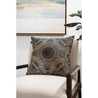 Gold Geometric Modern Pillow (Accent - 18 x 18 - Polyester)