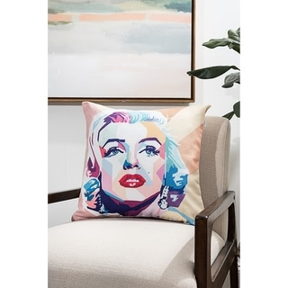 Colorful Marilyn Modern Pillow (Accent - 18 x 18 - Polyester)