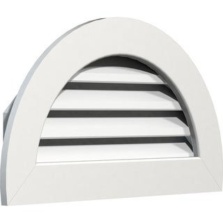 Half Round Gable Vent (Functional / 32W x 16H)