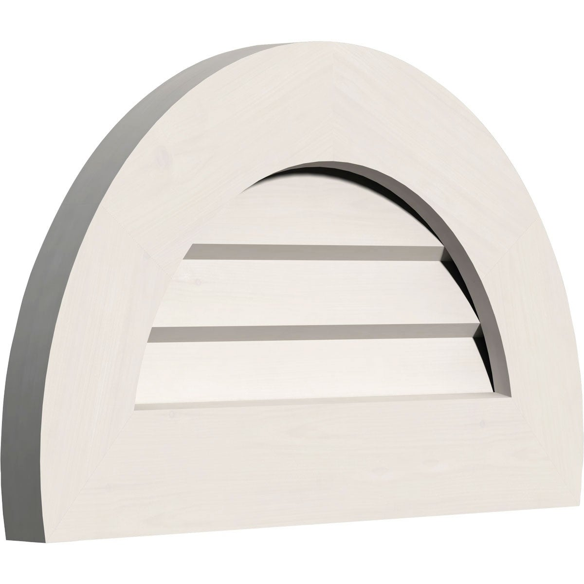 Half Round Gable Vent (Non-Functional / 36W x 18H)
