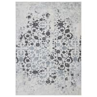 Ottomanson Rixos Collection Modern Distressed-look Floral Design Area Rug