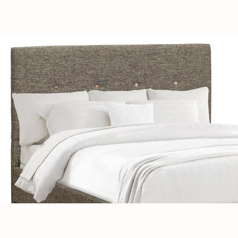 Mid Century Modern Grey Upholstered King Headboard