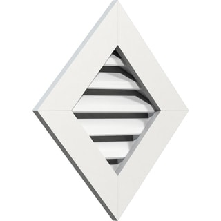 Diamond Gable Vent (Functional / 24W x 24H)