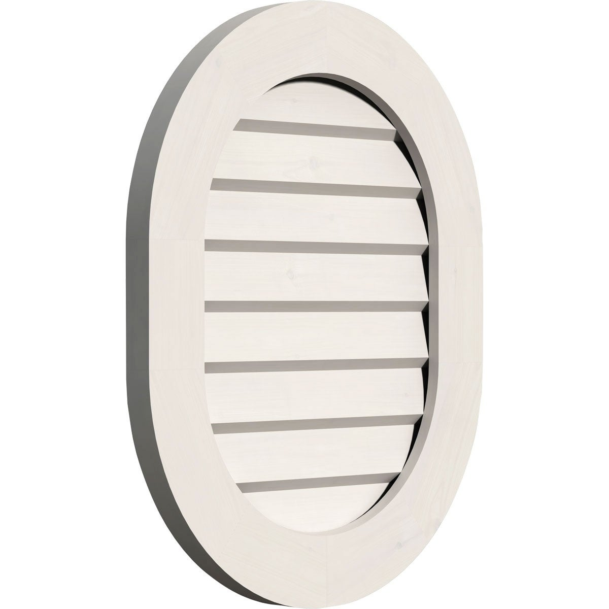 Vertical Round Ended Gable Vent (Functional / 18W x 30H)