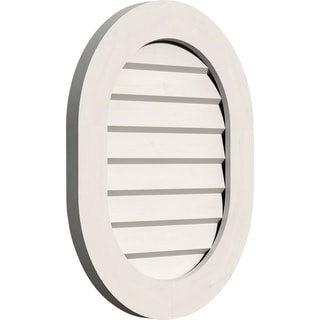 Vertical Round Ended Gable Vent (Non-Functional / 16W x 28H)