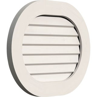 Horizontal Round Ended Gable Vent (Non-Functional / 30W x 16H)