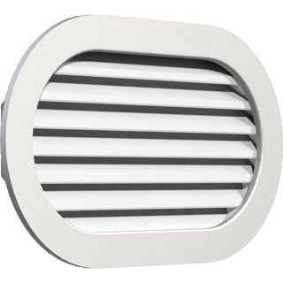 Horizontal Round Ended Gable Vent (Functional / 26W x 12H)