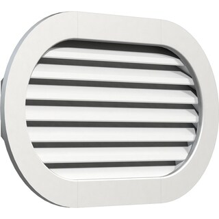 Horizontal Round Ended Gable Vent (Functional / 36W x 14H)