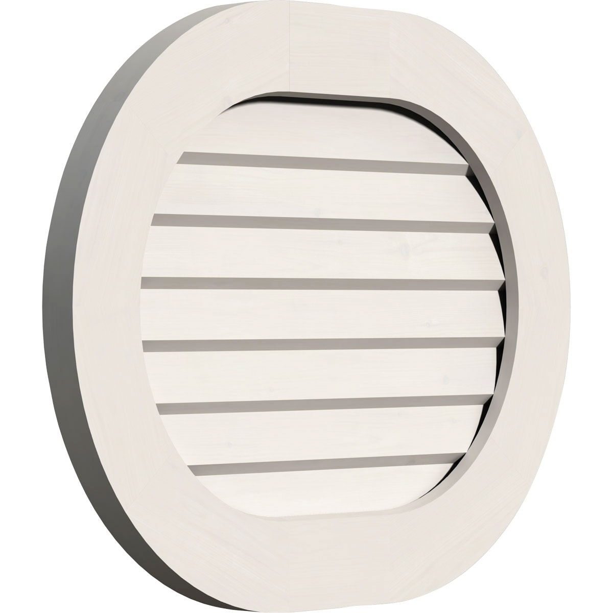 Horizontal Round Ended Gable Vent (Non-Functional / 18W x 12H)