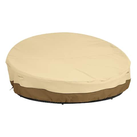 "Classic Accessories Veranda Round Outdoor Daybed Cover - Durable and Water Resistant Outdoor Furniture Cover - 90""DIA x 33""H"
