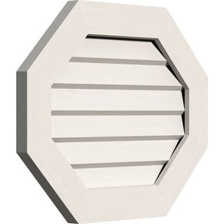 Horizontal Elongated Octagon Gable Vent (Non-Functional / 30W x 20H)
