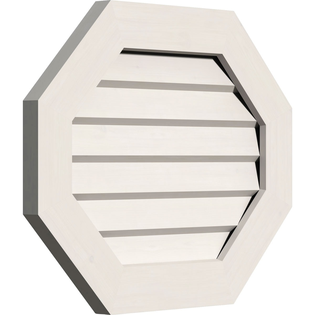 Horizontal Elongated Octagon Gable Vent (Non-Functional / 26W x 22H)