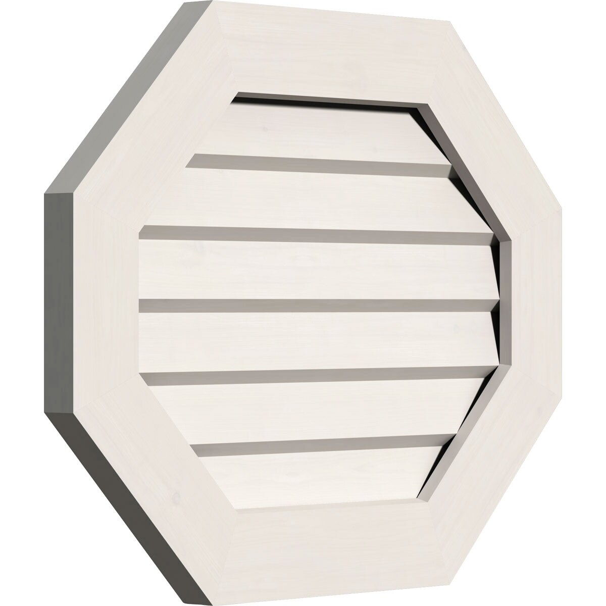 Horizontal Elongated Octagon Gable Vent (Non-Functional / 30W x 16H)