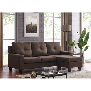 Shop Small Space Linen Fabric Sectional Sofa With