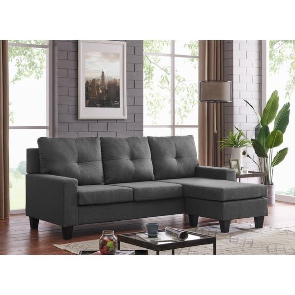 Pleasant Shop Vogue Reversible Sectional Free Shipping Today Gmtry Best Dining Table And Chair Ideas Images Gmtryco