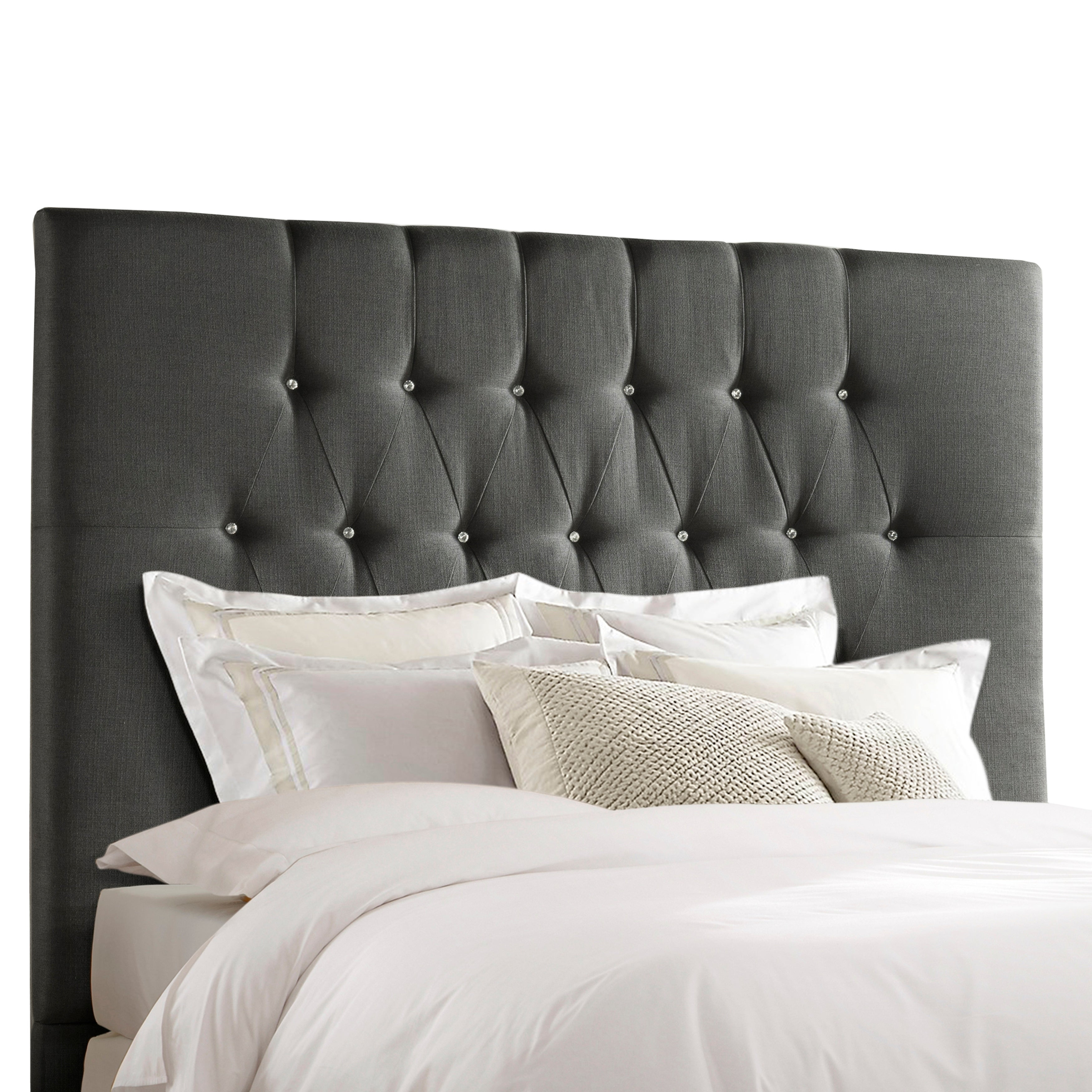 Picture of: Shop Tall Tufted Charcoal Grey Upholstered King Headboard Overstock 27678931