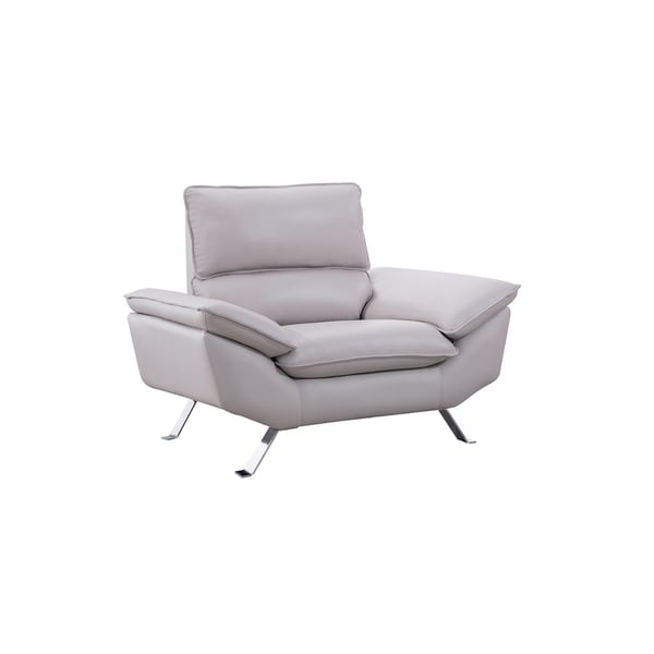 Shop contemporary leather upholstered living room arm - Upholstered living room chairs sale ...
