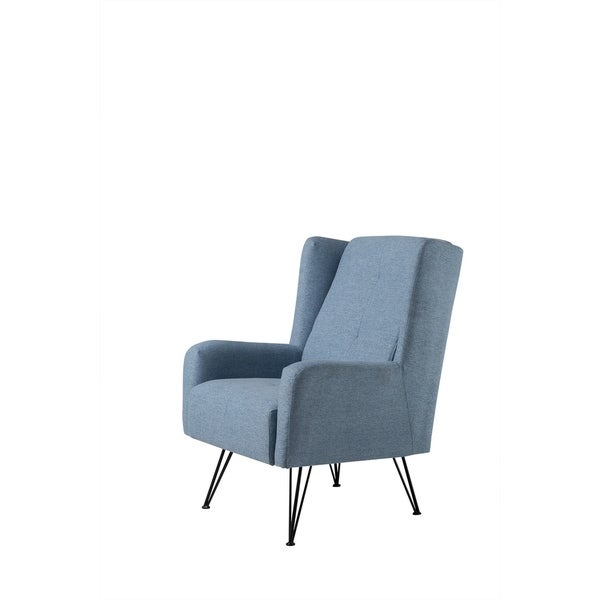 Shop mid century fabric upholstered living room accent - Upholstered living room chairs sale ...