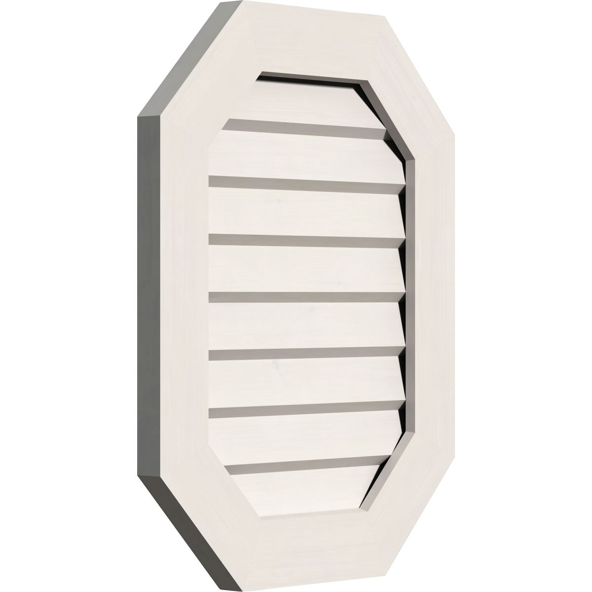 Vertical Elongated Octagon Gable Vent (Functional / 30W x 32H)