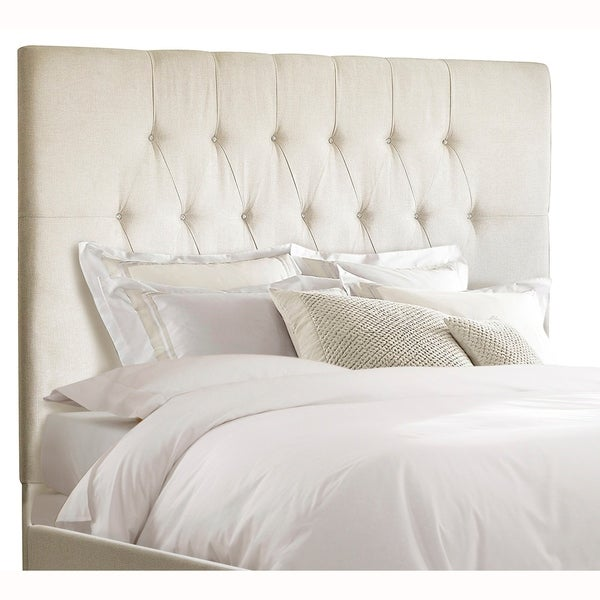 Shop Tall Tufted Cream Upholstered King Headboard Free