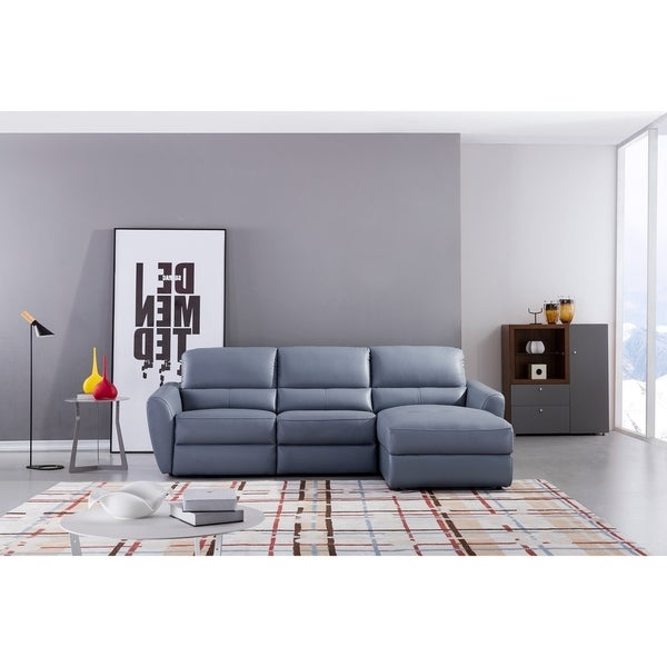 Leather Sofa With Chaise On Sale: Shop Blue Living Room Chaise Leather Sectional
