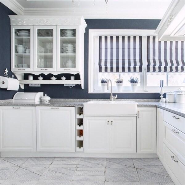 Shop Somertile Silla Wood Decor White Porcelain 12 25 Inch