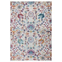 Ottomanson Rixos Collection Modern Distressed-look Floral-design Area Rug