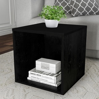 Lavish Home Contemporary Minimalist Modular Cube Stackable End TAble Accent Table or Shadowbox
