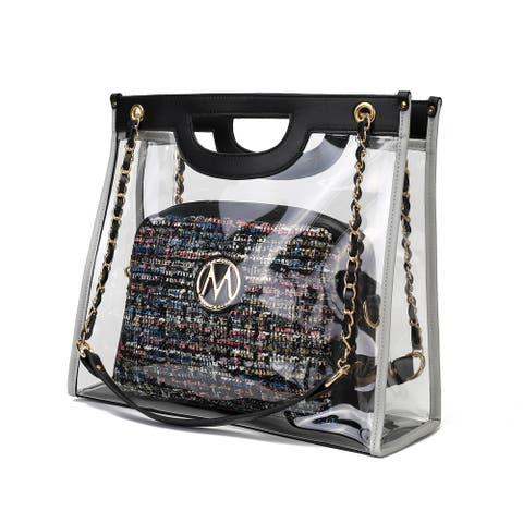 MKF Collection Juju 2PC Clear Tote and Crossbody Bag by Mia K.