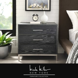 Nicole Miller Dave Side Table/ Accent Table/ Nightstand, 3 Drawers