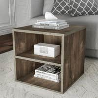 Deals on Porch & Den Hartley Contemporary End Table w/ Shelves